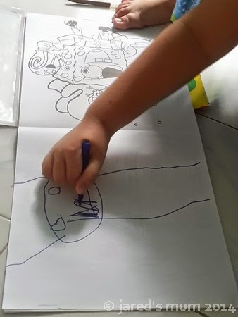 kids in doodles, pre-schooler, doodles, children art