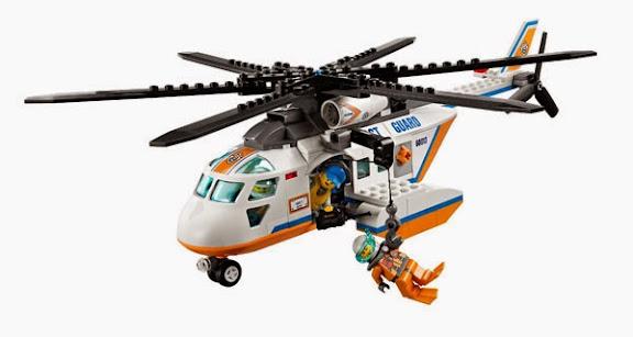LEGO 60013 Coast Guard Helicopter - Máy bay trực thăng cứu hộ