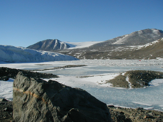 Lake Hoare from the North Shore with Canada Glacier in the background