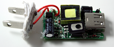 Inside a cheap USB charger