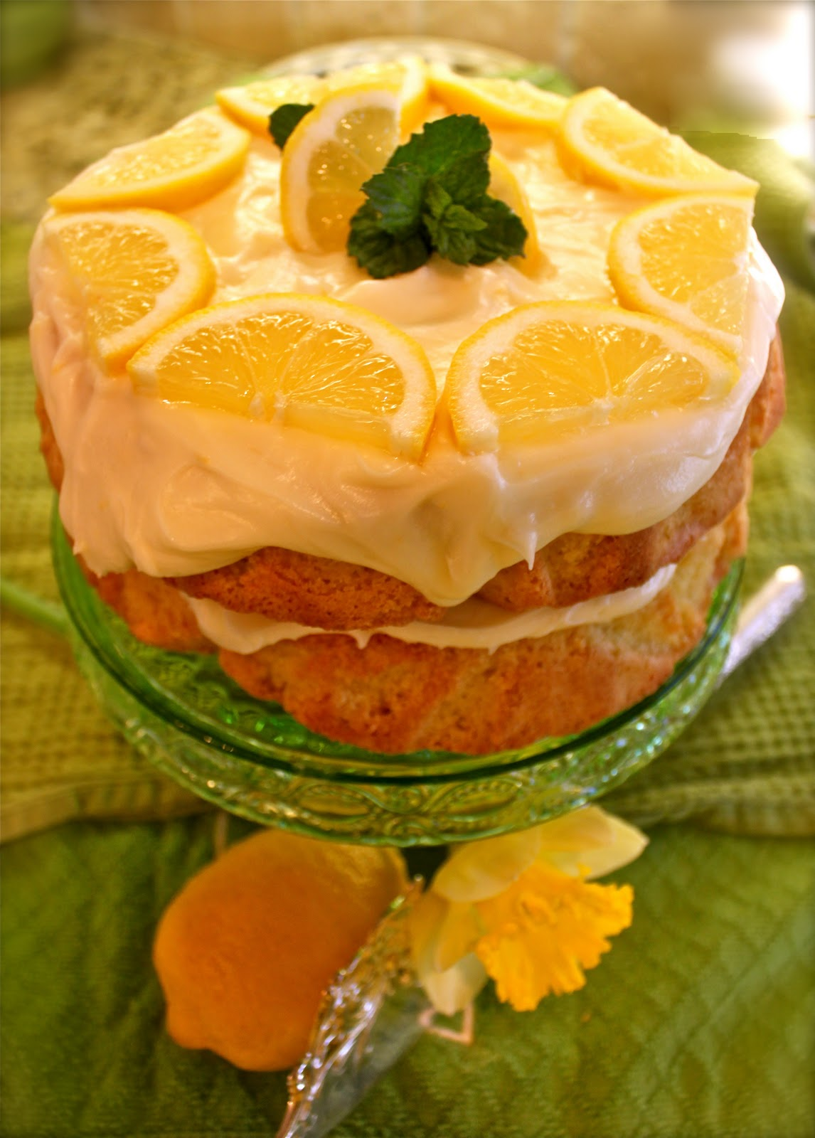 Lemon Layer Cake with Limoncello Icing