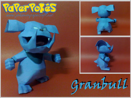 Pokemon Granbull Papercraft