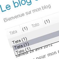 Blogger Code - Gadget Libellés [Horizontal pack custom]