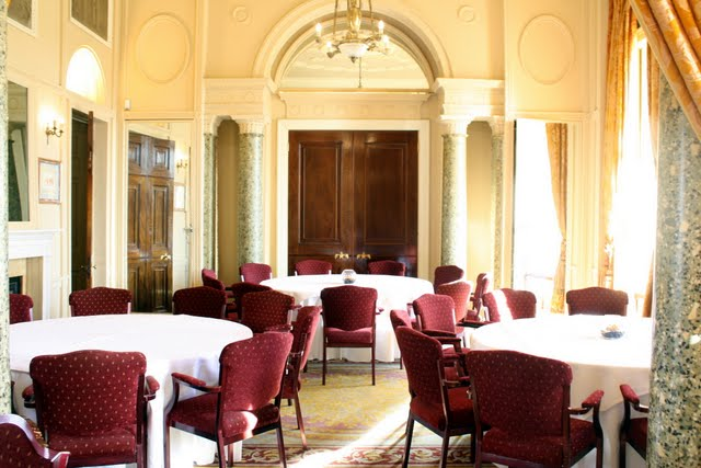 Conference and event room at the Stoke Park Hotel in Buckinghamshire England