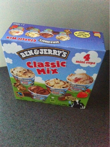 ice-cream, jäätelö, mimikupit, minicups, ben and jerrys, bj, benjerrys, ben and jerry's, classic mix, treat, herkut,