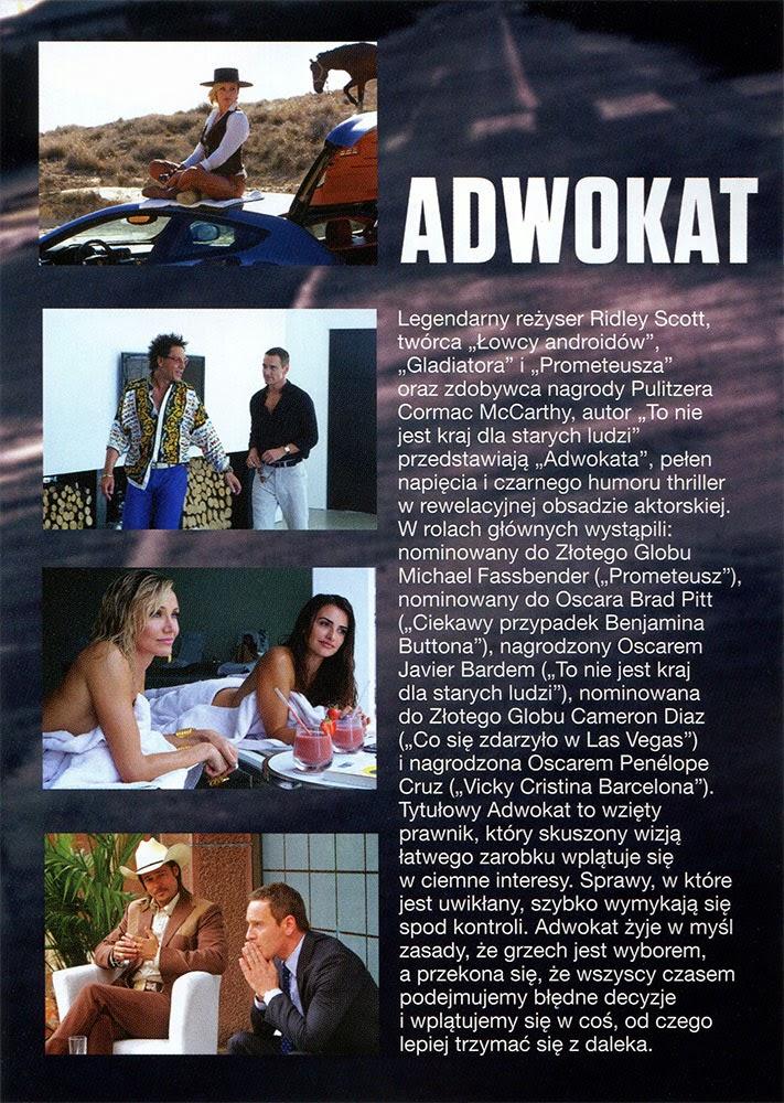 Ulotka filmu 'Adwokat (tył)'
