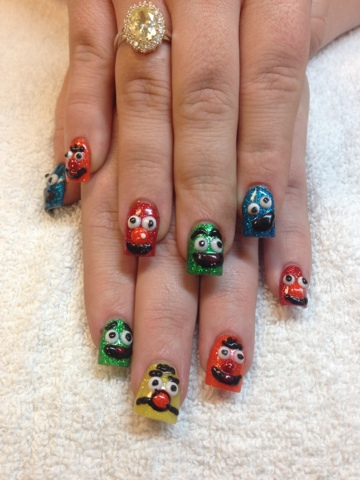 Nail art las vegas sesame streets nails las vegas nail art i think the hardest nail to do was the ernie nail it took awhile to do them because of the detail though but very rewarding when finished prinsesfo Choice Image