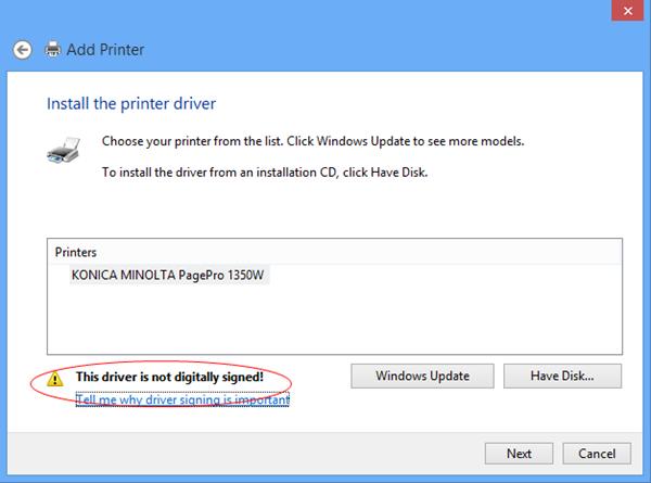 Přidání tiskárny