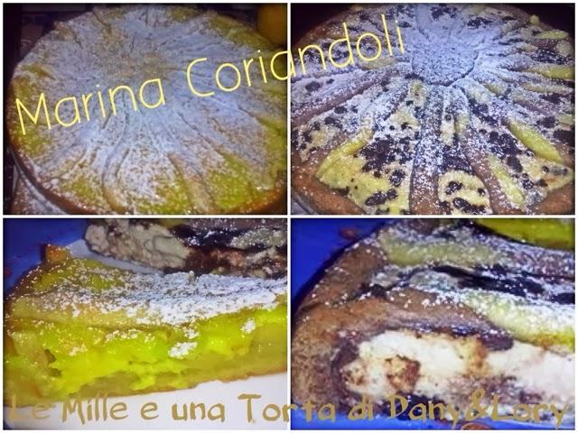 crostata mele e crema - crostata al cacao farcita con crema di ricotta