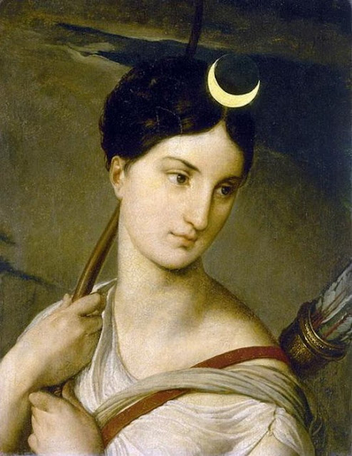 богиня луны Диана