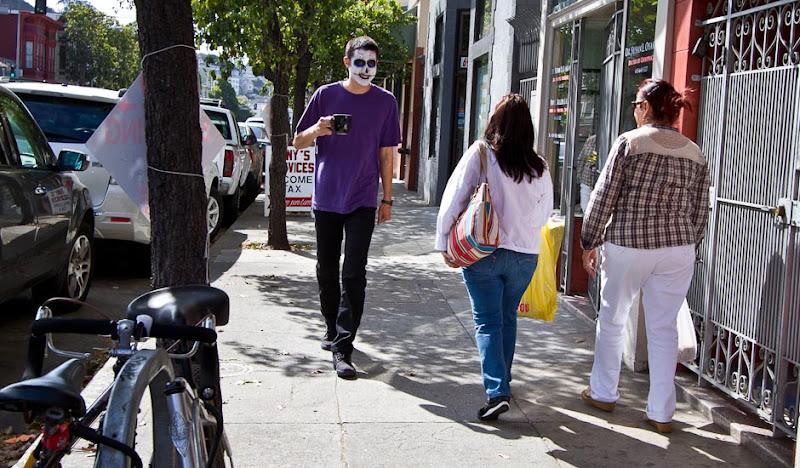 DoD Men's Black Britches Phil walks past two women