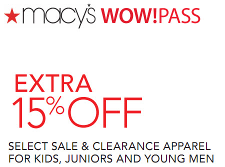 Macy's Coupon code on Apparel August 2011