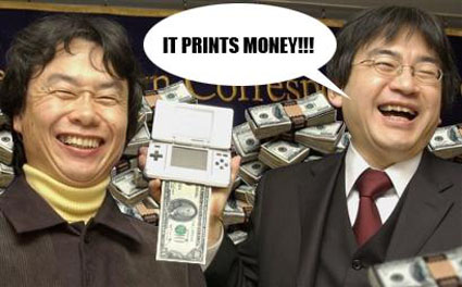 Iwata Miyamoto DS It Prints Money