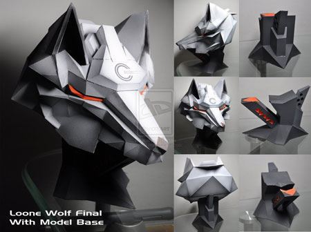Loone Wolf Papercraft
