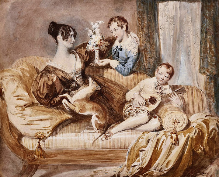 Daniel Maclise - Julia Hardwick, née Shaw, with her two sons