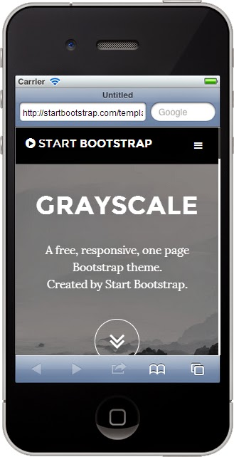 Free Bootstrap Themes Smartphone Screenshot