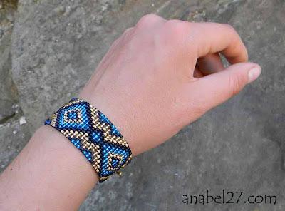 украшение из бисера подарок девушке женщине браслет узкий
