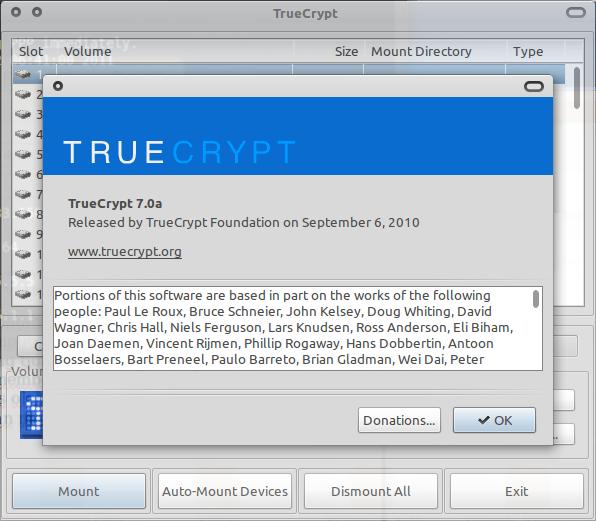 TrueCrypt di Ubuntu 10.10 Maverick Meerkat