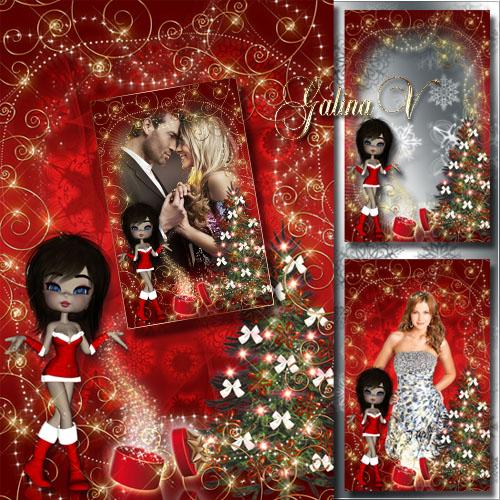Праздничная рамка - Волшебство в Рождество