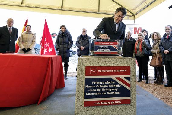 Obras del nuevo Colegio José Echegaray en el Enchanche de Vallecas