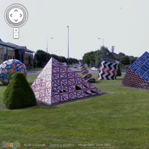 roaming the google streets roundabout art made from. Black Bedroom Furniture Sets. Home Design Ideas