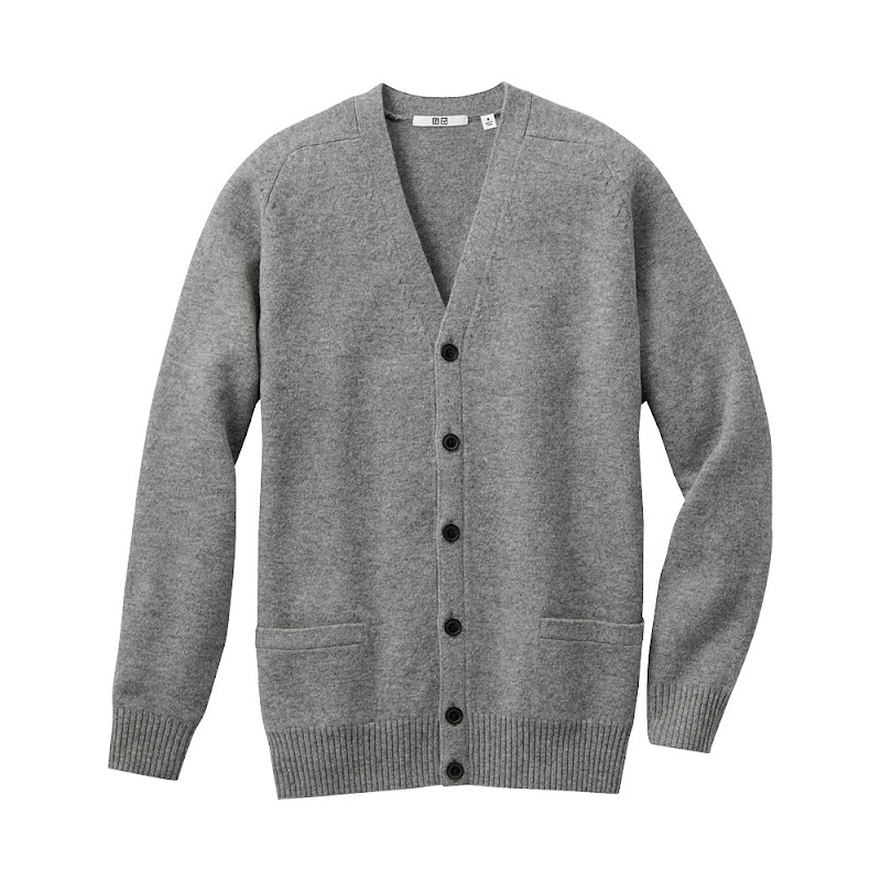 UNIQLO Men's Lambswool cardigan