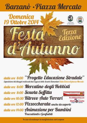 Festa d'Autunno il 19 Ottobre Barzanò
