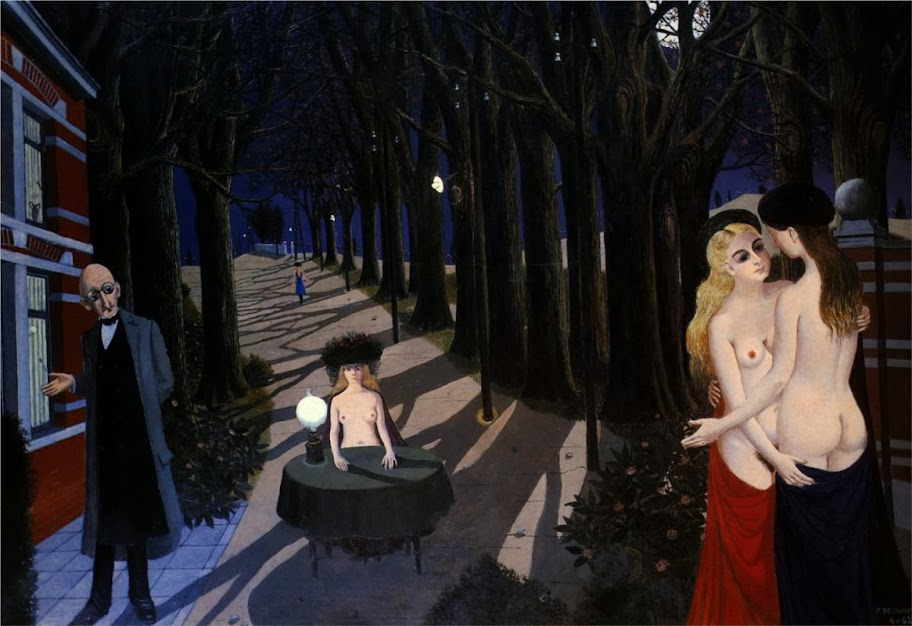 Paul Delvaux - Silent Night, 1962