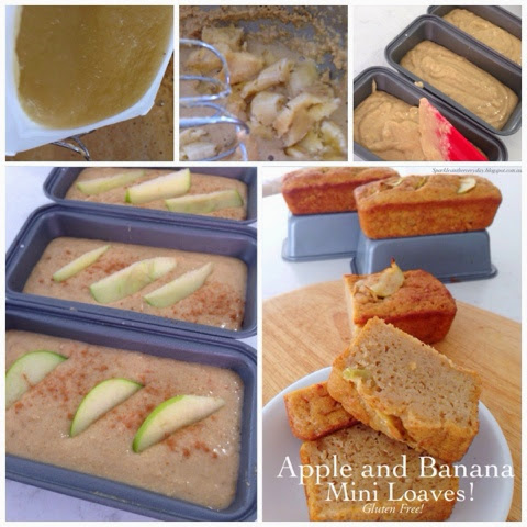 Apple and Banana Mini Loaves - gluten-free