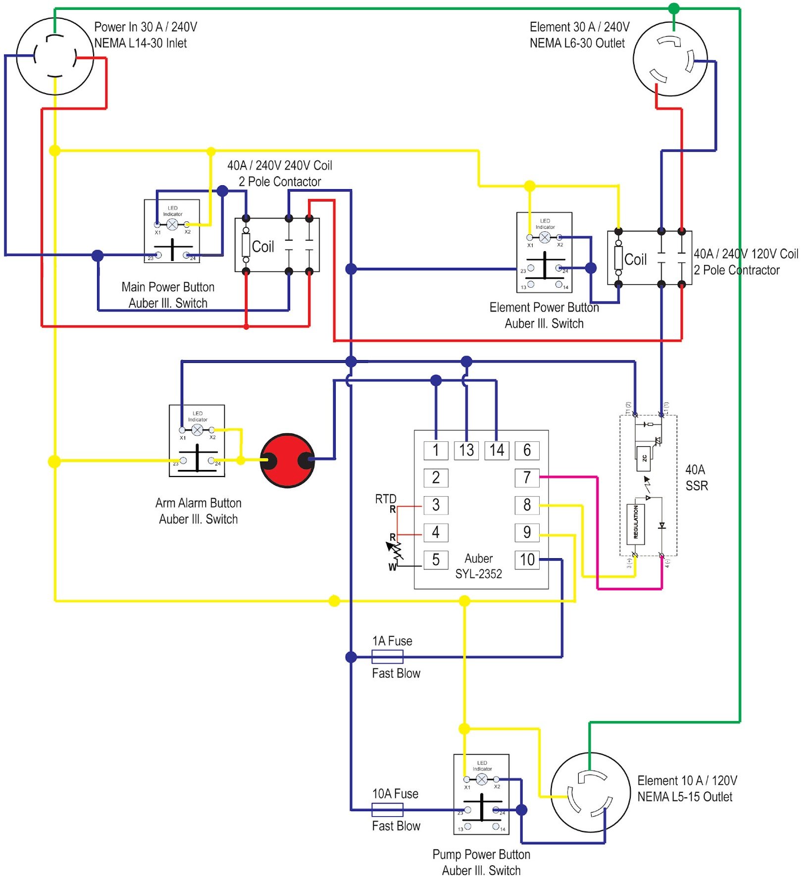 wiring diagram lukez auberins pushbutton switches home brew forums syl-2352 wiring diagram at bayanpartner.co