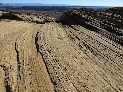 Navajo Sandstone layers in the San Rafael Reef