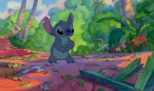 Screen Shot Of Hollywood Movie Lilo & Stitch (2002) In Hindi English Full Movie Free Download And Watch Online at Alldownloads4u.Com