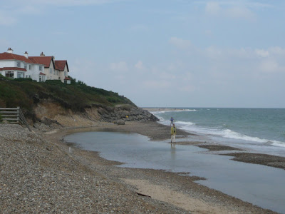 Erosion at Thorpeness before the defences were completed