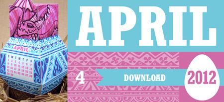 Spring Dragon Papercraft Calendar