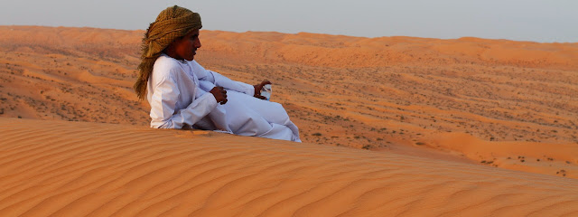 Admiring the lovely Wahiba Sand Dunes of Oman