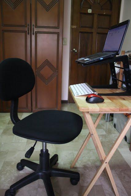 laptop desk, keyboard, DJ laptop stand, and laptop