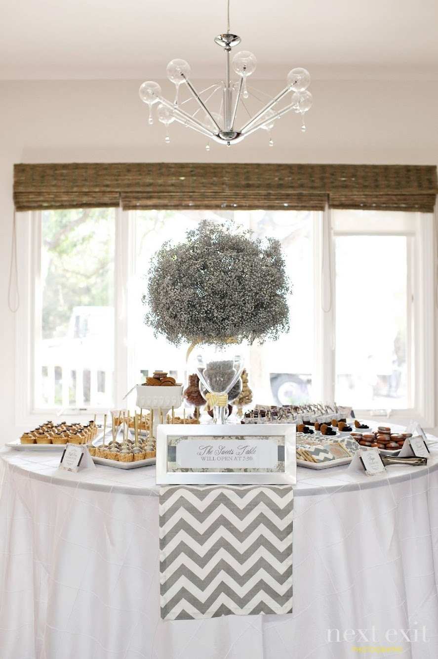Modern Chevron Dessert Table