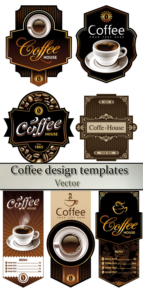 Stock: Coffee design templates