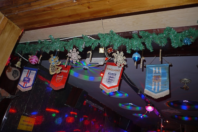 Christmas decorations at a bar in Changsha, China