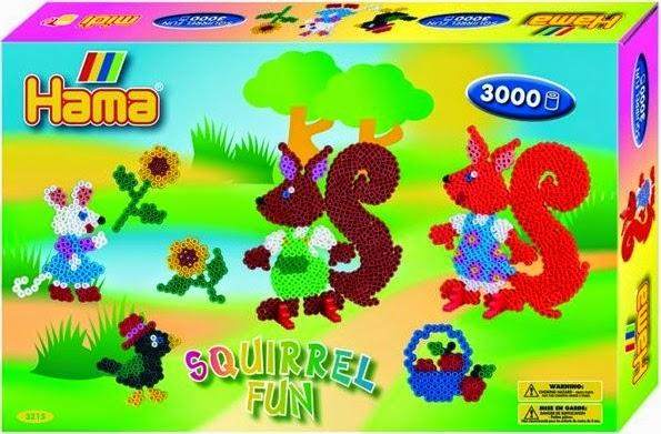 Bộ đồ chơi xếp hình Hama Sóc vui vẻ - Squirrel Fun lý thú