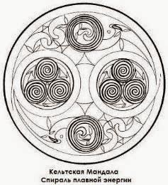 Celtic Manadala. Spiral flowing energy