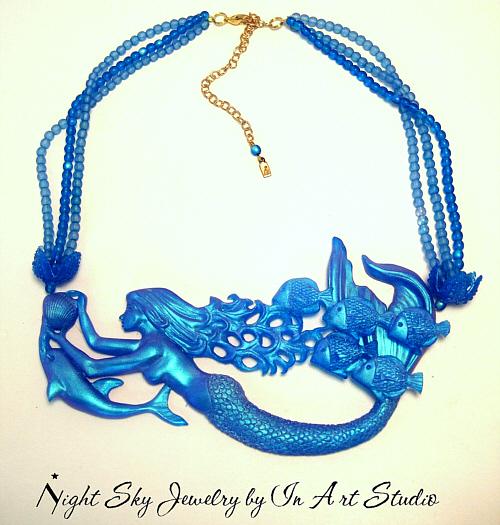 Blue Mermaid Necklace