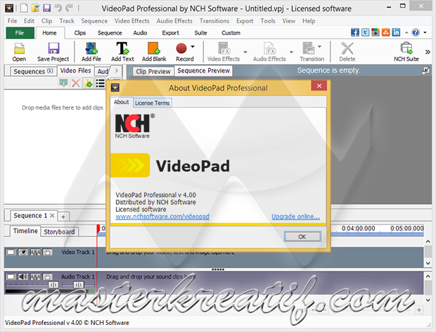 VideoPad Video Editor Professional 4.00