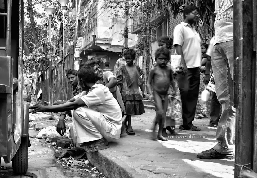 beggers, children street, street photography, Kalighat