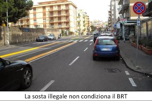 la sosta illegale non condiziona il BRT