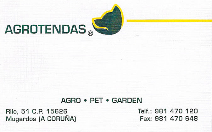 Agrotendas. Agro - Pet - Garden. Colaborador coa A.D.R. Numancia de Ares.