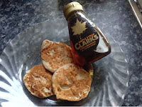 buckwheat banana pancakes with maple syrup