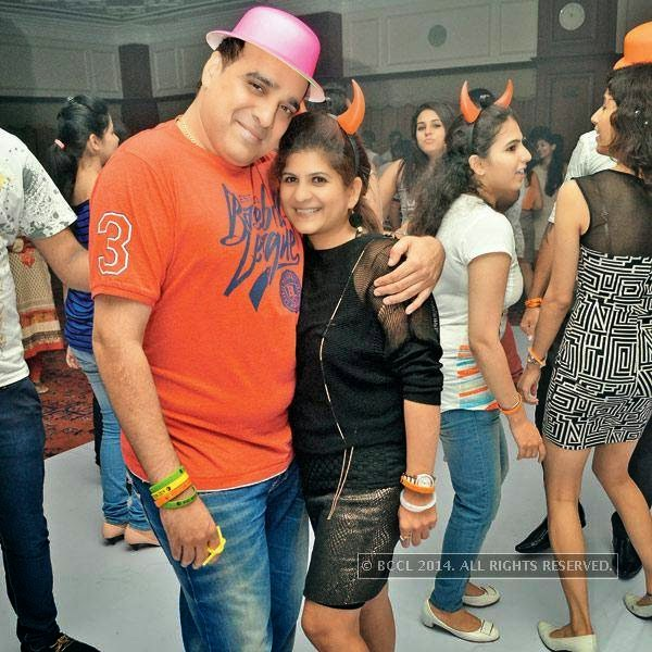 Nitin and Jhalak at a party, held in Bhopal.