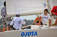 J/24s sailing Lago San Roque in Cordoba, Argentina