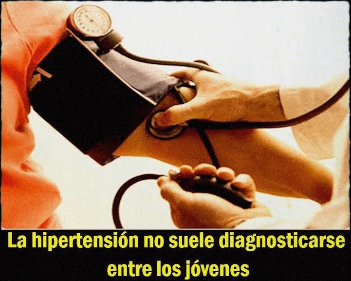La hipertensión no suele diagnosticarse entre los jóvenes